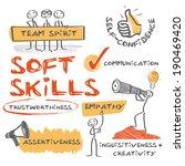 soft skills complement hard... | Shutterstock .eps vector #190469420