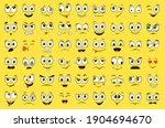 cartoon faces set. angry ... | Shutterstock .eps vector #1904694670