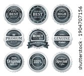 set of quality and guarantee... | Shutterstock .eps vector #1904707156