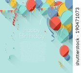 colorful birthday background in ... | Shutterstock .eps vector #190471073