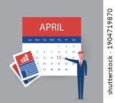 usa tax day concept   calendar... | Shutterstock .eps vector #1904719870