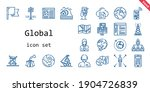 global icon set. line icon... | Shutterstock .eps vector #1904726839