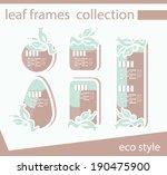 vector leaf frames collection... | Shutterstock .eps vector #190475900