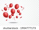 celebration banner with red... | Shutterstock .eps vector #1904777173