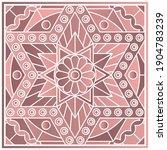 bandana print with hexagonal...   Shutterstock .eps vector #1904783239