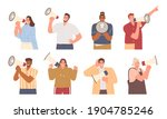 collection of portraits... | Shutterstock .eps vector #1904785246