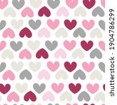 seamless pattern with hearts.... | Shutterstock .eps vector #1904786299