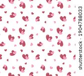 seamless pattern with hearts.... | Shutterstock .eps vector #1904788033