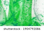 Green Fabric With Snakeskin...