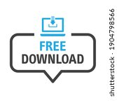 Free Download - speech bubble with icon on white background - vector illustration concept