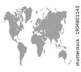 world map color vector modern.... | Shutterstock .eps vector #1904801143