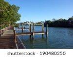 empty boat dock in boca grande  ... | Shutterstock . vector #190480250