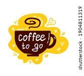 coffee cup logo. coffee mugs...   Shutterstock .eps vector #1904811319