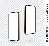 realistic gold smartphone...