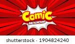pop art comic background.... | Shutterstock .eps vector #1904824240