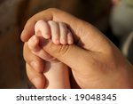 little daughter's hand holds... | Shutterstock . vector #19048345
