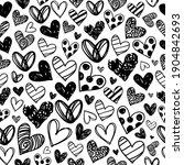 Heart Doodles Love Seamless...