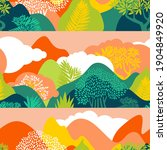 seamless pattern with mountain... | Shutterstock .eps vector #1904849920