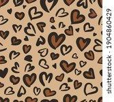 valentine leopard or jaguar... | Shutterstock .eps vector #1904860429