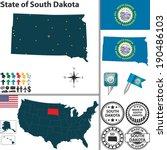 vector set of south dakota... | Shutterstock .eps vector #190486103