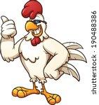 Cool Cartoon Chicken. Vector...