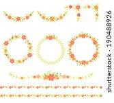 Set Of Floral Wreaths  Frames ...