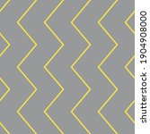 yellow zigzags on gray...   Shutterstock .eps vector #1904908000