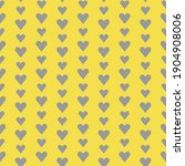 cute gray hearts seamless...   Shutterstock .eps vector #1904908006