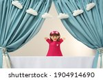 Creative Puppet Show On White...