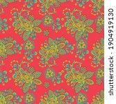 paisley ornamental seamless...   Shutterstock . vector #1904919130