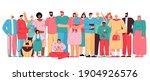 big diverse family members.... | Shutterstock .eps vector #1904926576