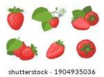 fresh ripe strawberry set.... | Shutterstock .eps vector #1904935036