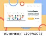 diverse group of children in...   Shutterstock .eps vector #1904960773