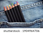 Colored Pencils In Jeans Pocket ...