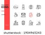 running   modern line design...   Shutterstock .eps vector #1904965243