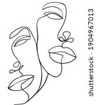 one line art couple. valentines ...   Shutterstock .eps vector #1904967013