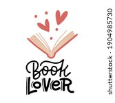book lover   hand drawn... | Shutterstock .eps vector #1904985730
