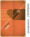 love poster with retro design.... | Shutterstock .eps vector #190498604