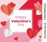happy valentine day template... | Shutterstock .eps vector #1904989033