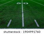 Football Field Green Grass...