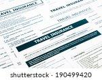 travel insurance form ... | Shutterstock . vector #190499420