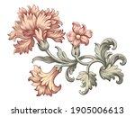 rose peony carnation flower... | Shutterstock .eps vector #1905006613