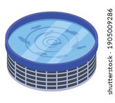 fish farm pool icon. isometric... | Shutterstock .eps vector #1905009286