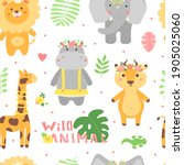 vector seamless pattern with... | Shutterstock .eps vector #1905025060