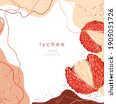 stylized lychees on an abstract ... | Shutterstock .eps vector #1905031726