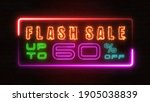 flashing sale up to percent off ... | Shutterstock . vector #1905038839