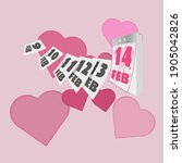 valentine's day. calendar and...   Shutterstock . vector #1905042826