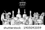 alcoholic cocktails sketch.... | Shutterstock .eps vector #1905092059