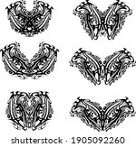 ornate butterfly wings in black ... | Shutterstock .eps vector #1905092260