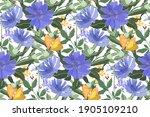 vector floral seamless pattern. ... | Shutterstock .eps vector #1905109210